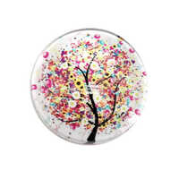 Round Glass Cabochon - Daisy Blossom x 25mm