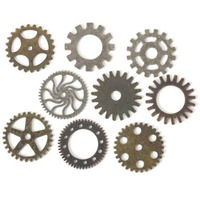 Steampunk Gears - 9 Piece Pack