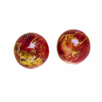 Burnt Red Large Vintage Lucite Bead