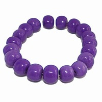 Purple Iris Large Vintage Lucite Bead