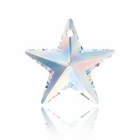 Swarovski Crystal Star Pendant - Crystal AB x 20mm