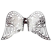 Large Angel Filigree Wings Craft Charm