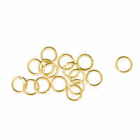 Gold Jump Rings - 4mm x 100