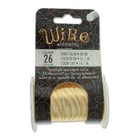 Beadsmith Craft Wire - Tarnish Resistant Gold x 26ga