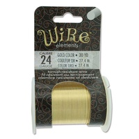Beadsmith Craft Wire - Tarnish Resistant Gold x 24ga