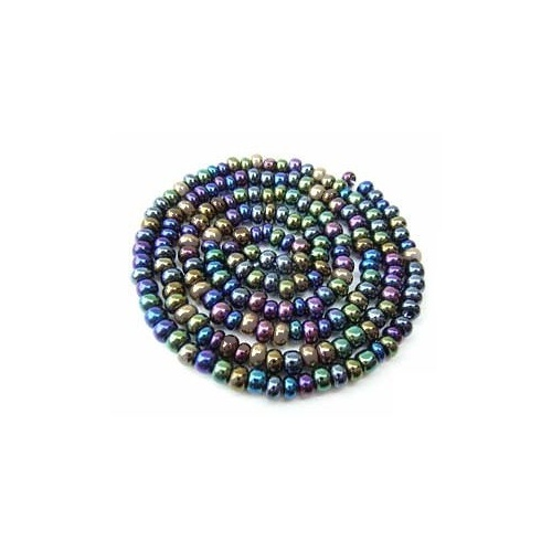 Czech Glass Seed Beads - Size 8/0 - 1 Hank x Heavy Metals