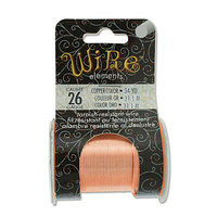 Beadsmith Craft Wire - Tarnish Resistant - 34 Yds - Copper x 26ga