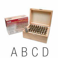 Alphabet Letter and Number Metal Punch Stamp Set - Upper Case Gothic x 3mm