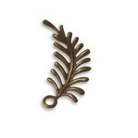 Vintaj Natural Brass - Fastenable - Fern Curving Left x 30mm