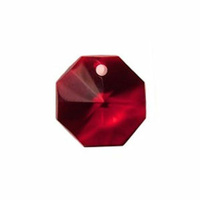 Crystal Octagon - Red x 14mm *Seconds*