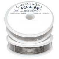 Acculon Tigertail Stainless Steel Jewelry Wire - 7 Strand .024 ~ 30Ft Roll x Clear