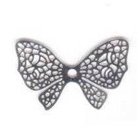 Butterfly Bow Filigree Craft Charm