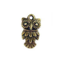 Antique Bronze Plated Owl Charm