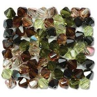 Crystal Bicone Beads - Preciosa Crystal - Artistic Impression 6mm x 18