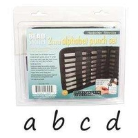 Alphabet Letter Metal Punch Stamp Set With Storage Pouch - Handwritten Lower Case x 2mm