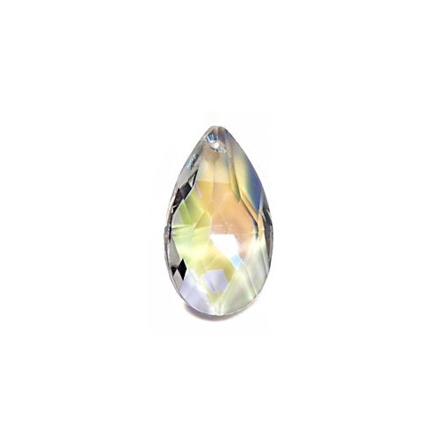 Crystal Teardrop Almond Shaped - Crystal Ab x 38mm *Seconds*