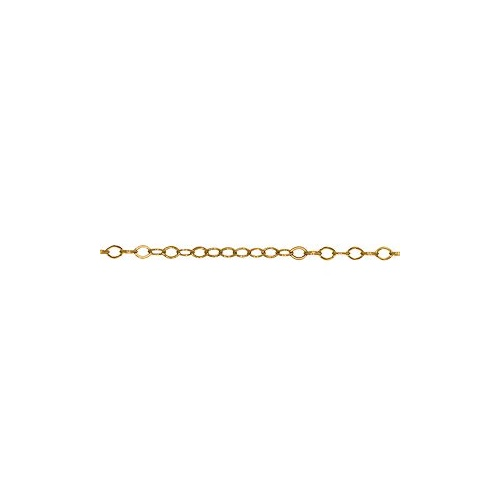 Cable Chain Link - Flat Round - Gold Plated 2mm - Per Foot (30cm)