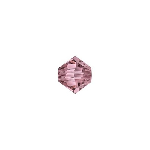 Swarovski Crystal Bicone Beads - Antique Pink 4mm x 20