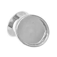 Adjustable Ring Shank With Bezel Setting - Oval - Silver Plated 25x18mm