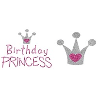 Glitter Iron-On Transfer - Uptown Baby - Birthday Princess