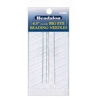 Beadalon Big Eye Beading Needles - Pack Of 4 x 4.5""