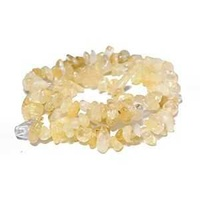 "Gemstone Beads - Semi-Precious Chips - 16"" Strand x Citrine"