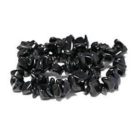 "Gemstone Beads - Semi-Precious Chips - 16"" Strand x Black Onyx"