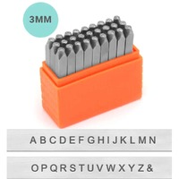 Impressart Alphabet Letter Metal Punch Stamp Set - Basic Sans Serif Upper Case x 3mm