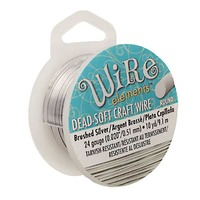 Craft Wire - Beadsmith Pro Quality Non Tarnish - Brushed Silver x 24Ga