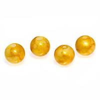 Round Glass Beads - Golden Delight 10mm x 10
