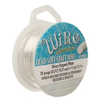 Craft Wire - Beadsmith Pro-Quality - 15 Yds - Non Tarnish Silver x 28Ga