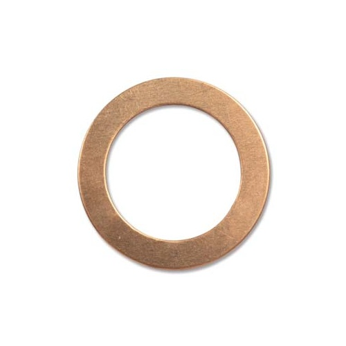 Metal Stamping Blank - 24ga Copper Washer x 31mm