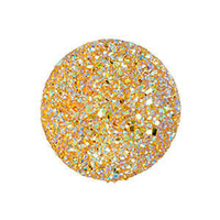 Sew-On Beads - Round Resin Sugar Stone Gold Ab - Pack Of 10