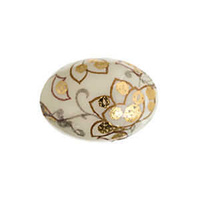 Japanese Porcelain Flatback Oval Cabochon - Golden Ivory 18x13mm