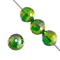 Dazzle-It Ori Crystal Round Rich Cut Beads - Emerald Ab x 10mm