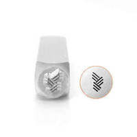 Impressart Metal Design Stamp ~ Vertical Angled Line Texture x 6mm