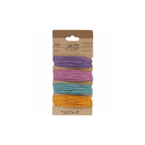 Natural Hemp Cord - Pastel Colours 1mm