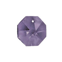 Crystal Octagon - Mauve x 14mm - FACTORY SECONDS