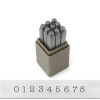 Impressart Number Metal Punch Stamp Set - Typewriter x 3mm